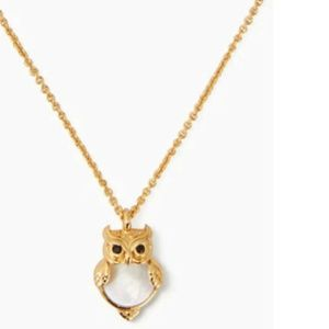 KATE SPADE INTO THE WOODS OWL PENDANT NECKLACE